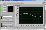 Sinewave generator vi is created in the LabVIEW tutorial.